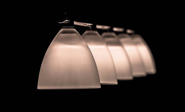 lustr, pět lamp